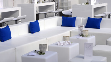 Weiße Loungemöbel mieten
