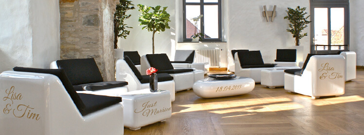 Loungemöbel indoor  Loungemöbel HIER für Hochzeit mieten » lounge4event «