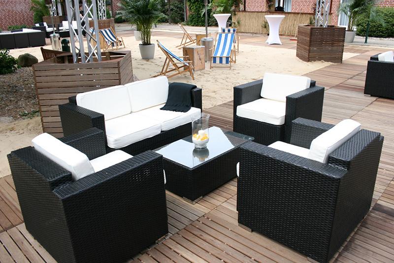 Outdoormöbel und Rattanmöbel mieten - lounge4event.de » lounge4event «