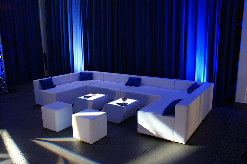 white line led m bel mieten lounge4event. Black Bedroom Furniture Sets. Home Design Ideas
