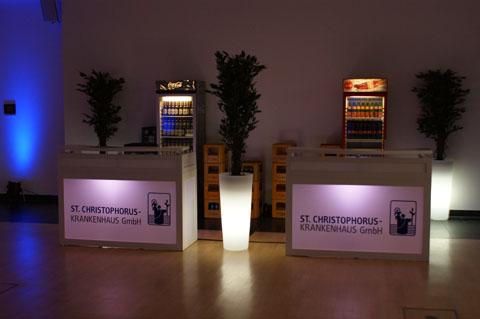 Bedruckter Counter mit LED-Beleuchtung
