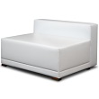 White Line LED Couch mit Lehne