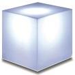 White Line LED Cube