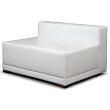 White Line Couch mit Lehne