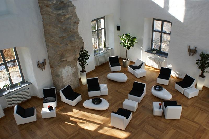 Fiberglas Sitzgruppe